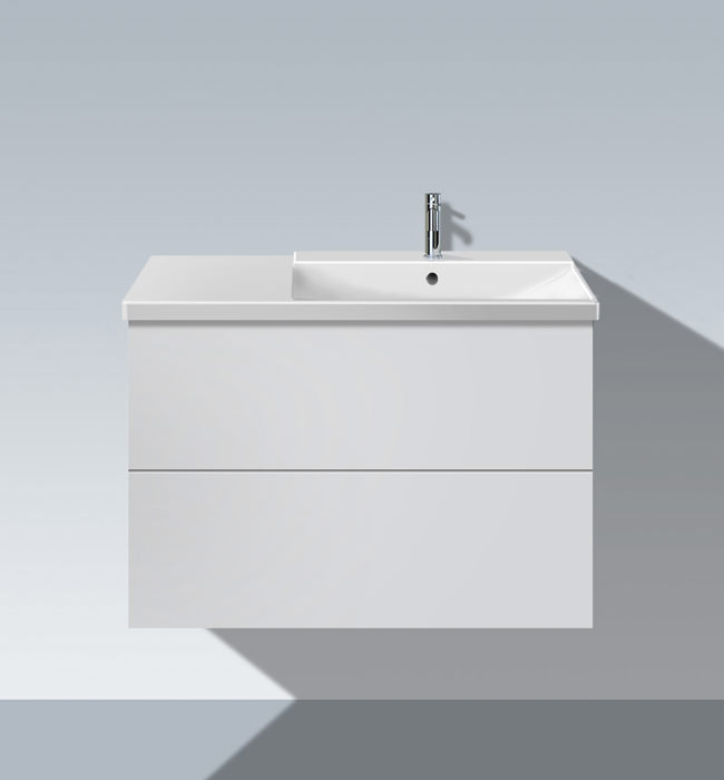 duravit l cube 820mm unit with p3 comforts bowl on right. Black Bedroom Furniture Sets. Home Design Ideas