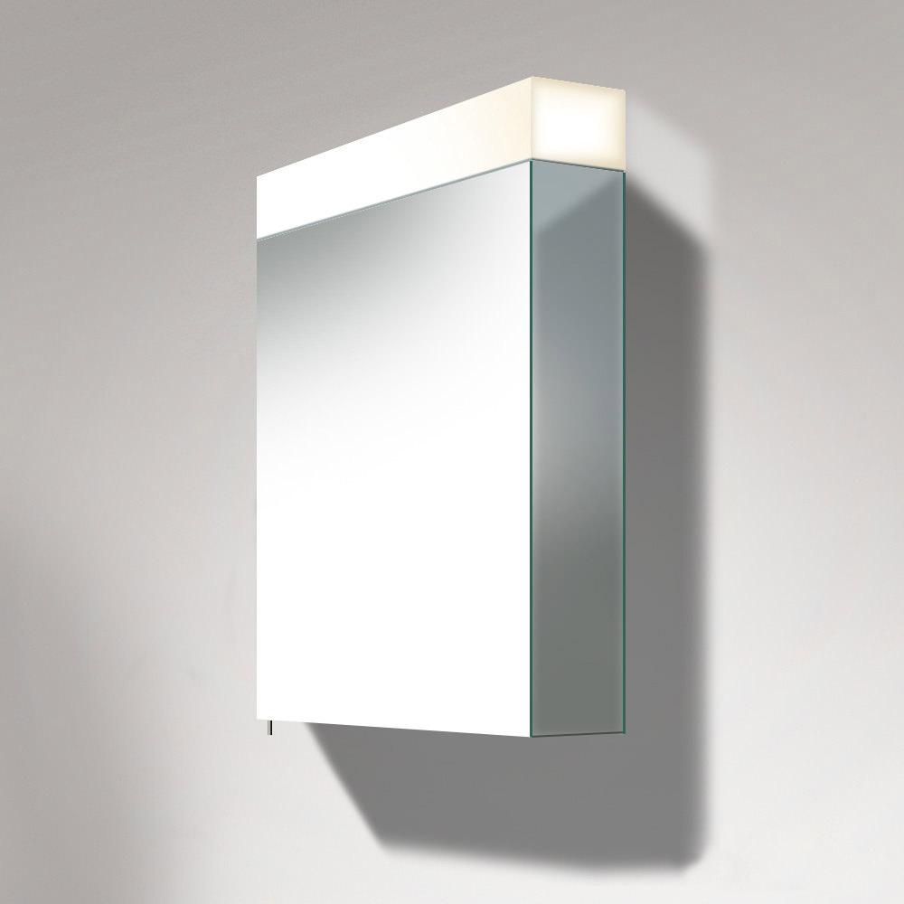 duravit vero 600 x 800mm 1 door mirror cabinet with sound. Black Bedroom Furniture Sets. Home Design Ideas
