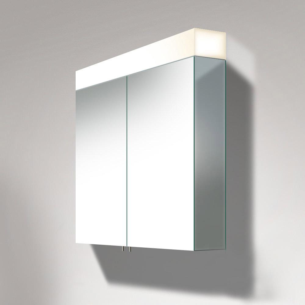 Duravit Vero 800mm 2 Door Mirror Cabinet With Led Lighting