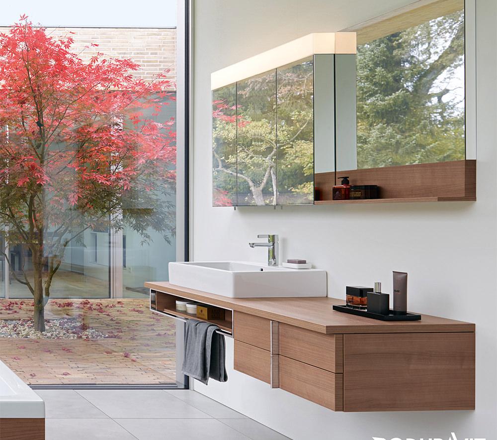 Duravit Vero 1200mm 3 Door Mirror Cabinet With Led