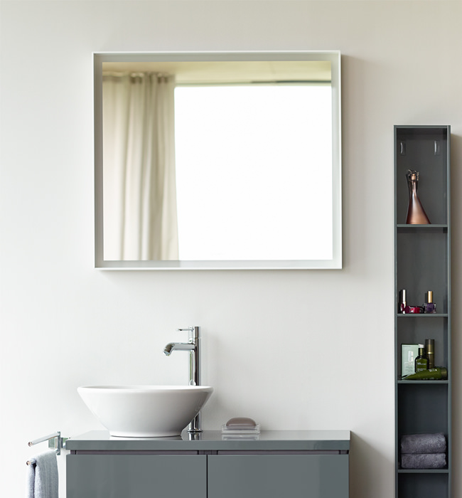 Duravit L Cube 650mm Mirror With Led Lighting Lc738000000