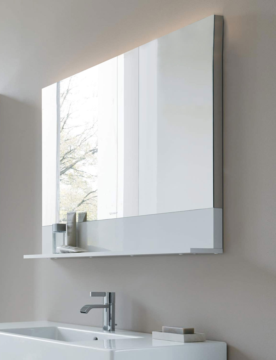 800mm bathroom mirror duravit vero 400 x 800mm mirror with white matt shelf 10052