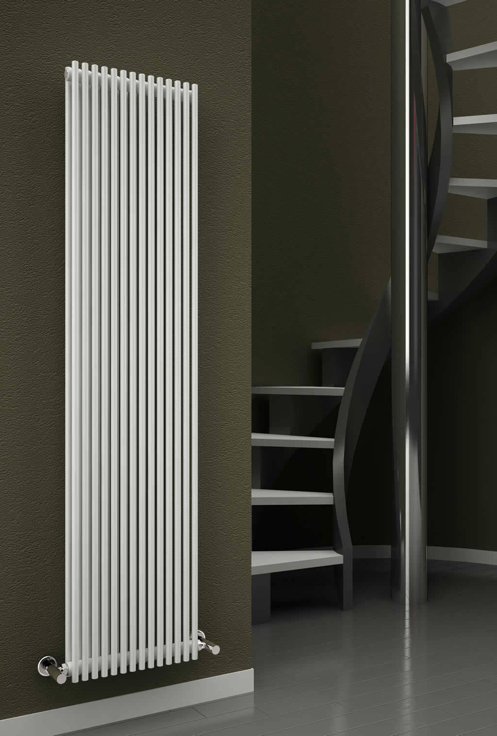 Reina Tubes Single Designer Radiator 350 X 1800mm Rnd Tb14w
