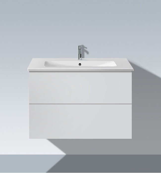 duravit l cube 820mm 2 drawers vanity unit with me by starck basin lc6241. Black Bedroom Furniture Sets. Home Design Ideas