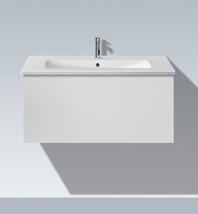 duravit l cube 1020mm vanity unit with me by starck basin. Black Bedroom Furniture Sets. Home Design Ideas