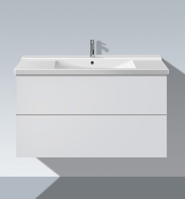 duravit l cube 1020mm 2 drawers vanity unit with p3 comfort basin lc6250. Black Bedroom Furniture Sets. Home Design Ideas