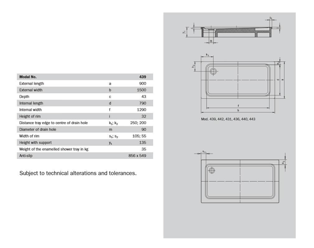 kaldewei avantgarde superplan xxl 900 x 1500mm steel. Black Bedroom Furniture Sets. Home Design Ideas