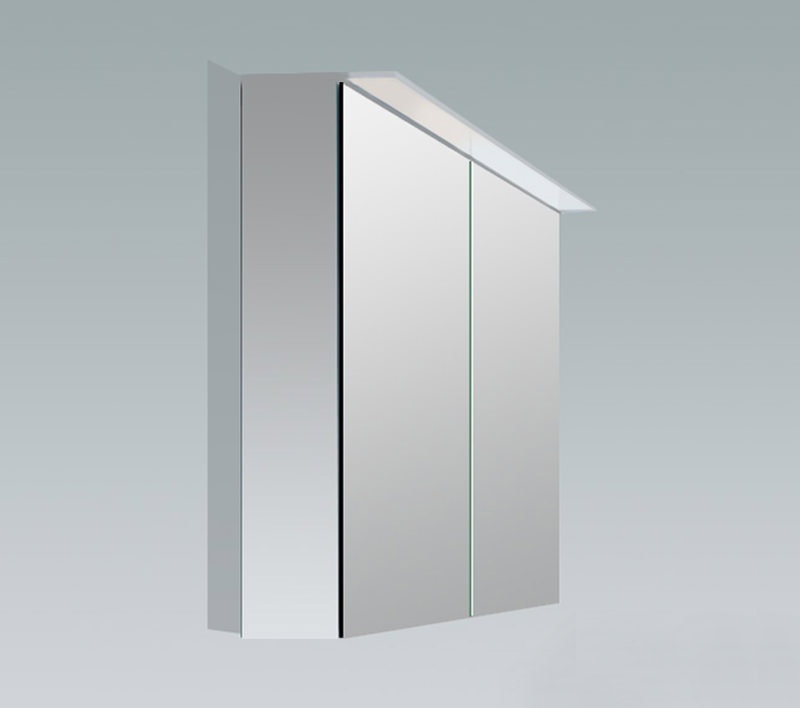 Duravit x large 600mm 2 door mirror cabinet with led for Large door mirror