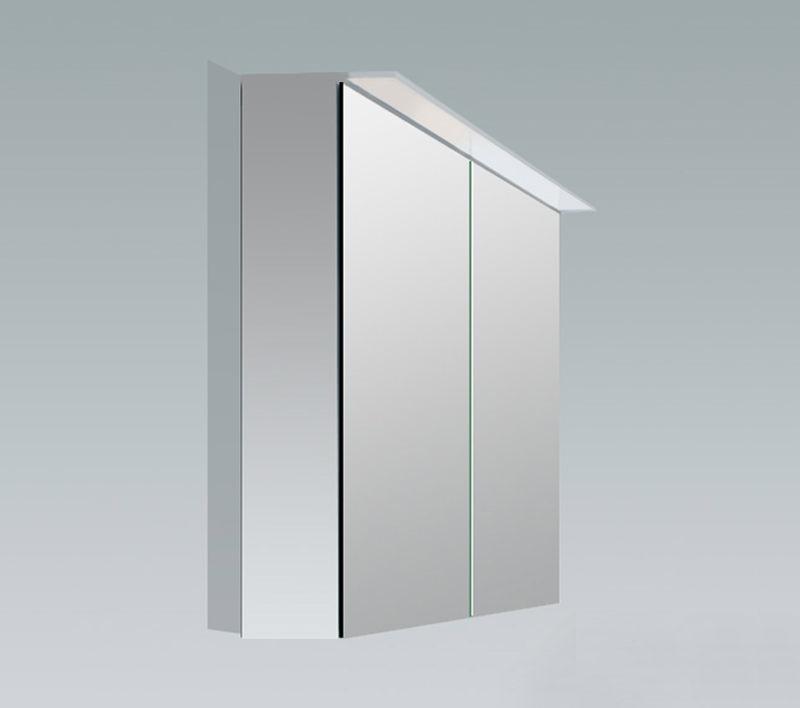 Duravit x large 600mm 2 door mirror cabinet with led for Big door mirror