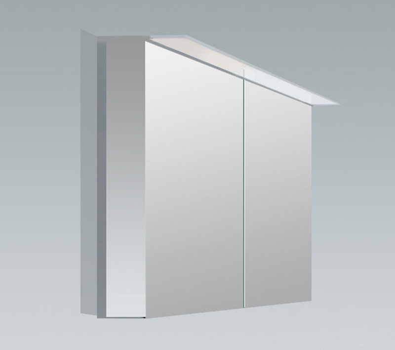 Duravit x large 1000mm 2 door mirror cabinet with led for Large door mirror