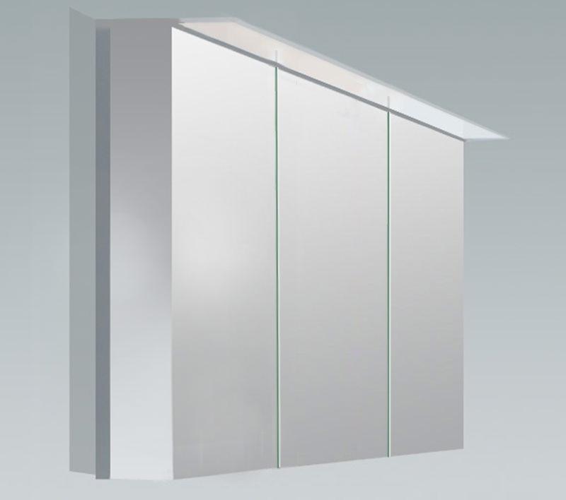 Duravit x large 1200mm 3 door mirror cabinet with led for Big door mirror