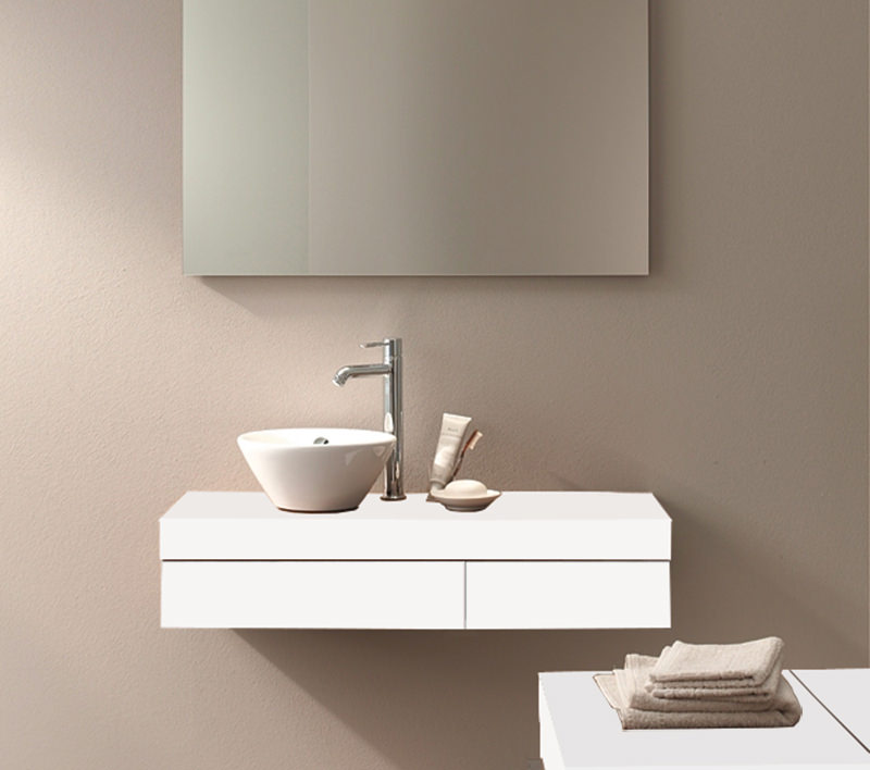 Duravit Fogo 900 X 360mm Left Cut Out Console Including