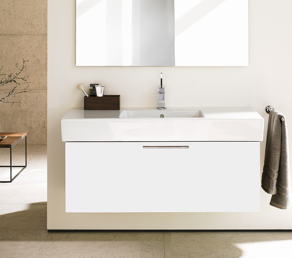 Duravit fogo 1200mm vanity unit with 1250mm vero washbasin for Large white bathroom cabinet