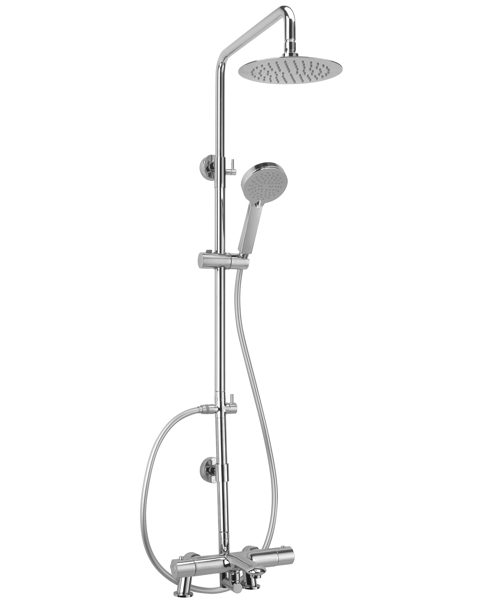 Sagittarius Logic Deck Mounted Bath Shower Mixer And Rigid