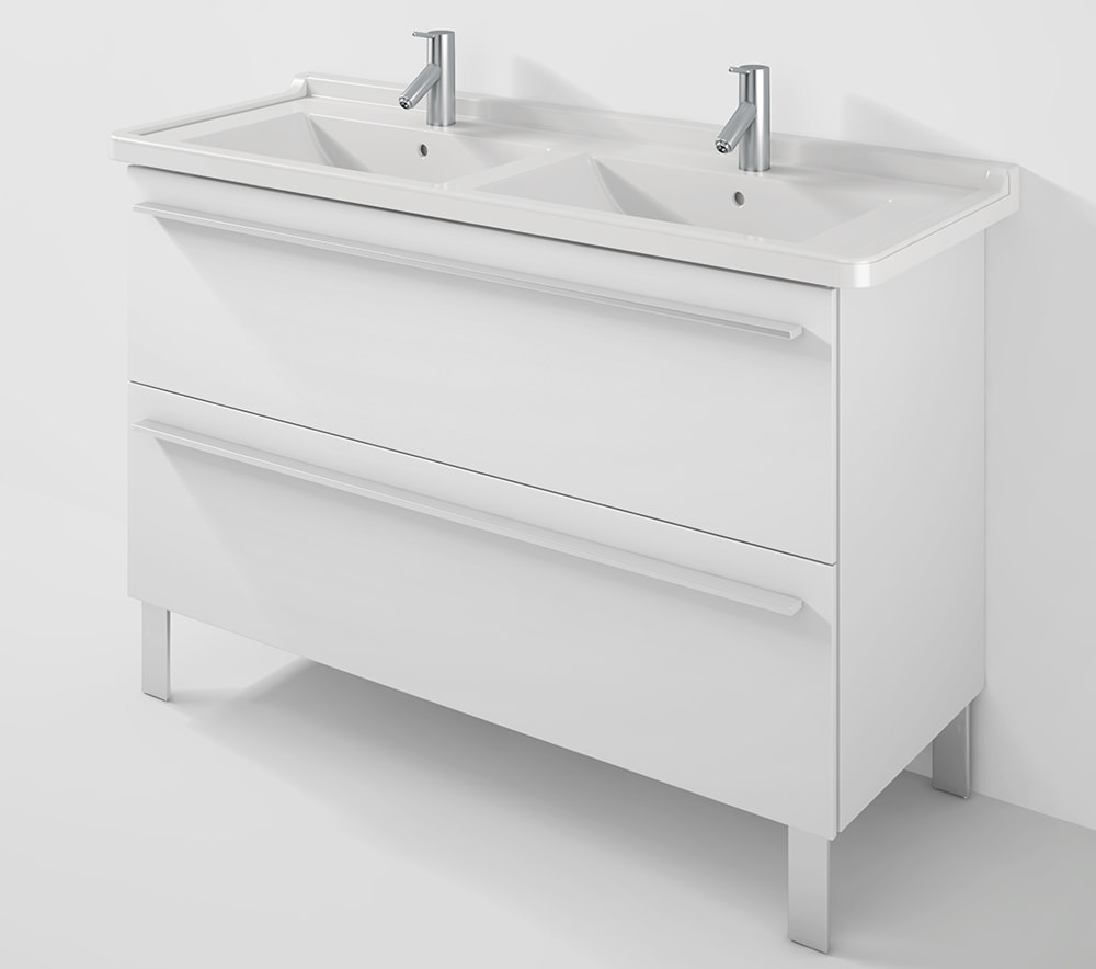 Duravit Wall Hung Basin : Duravit X-Large 1200mm Wall Mounted Unit With 1300mm Starck 3 Basin