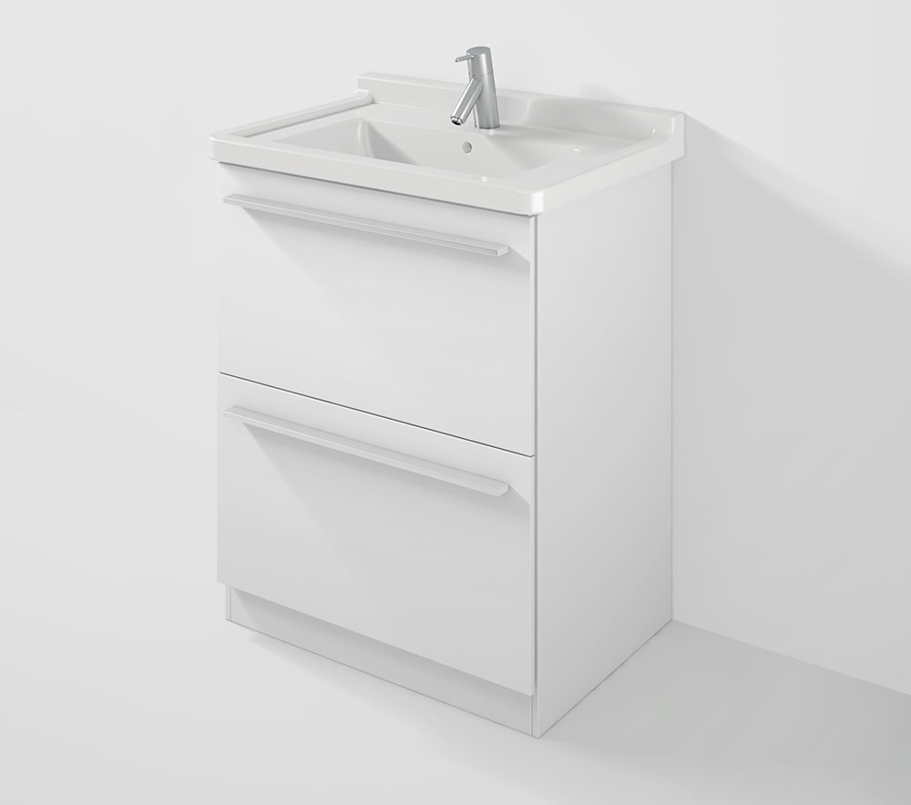 duravit x large 650mm wall mounted unit with 700mm starck 3 basin. Black Bedroom Furniture Sets. Home Design Ideas