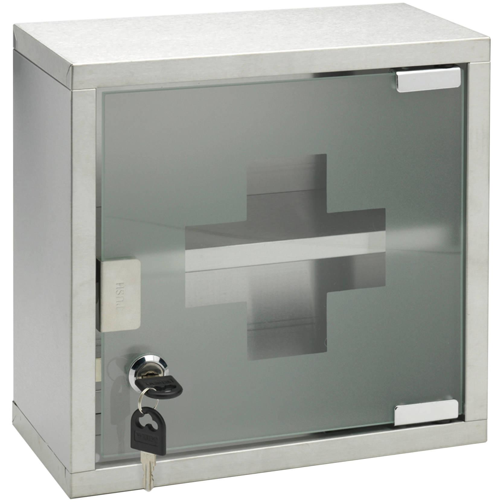 Sagittarius 250 x 250mm lockable medicine cabinet ac 313 c for Bathroom cabinets 250mm