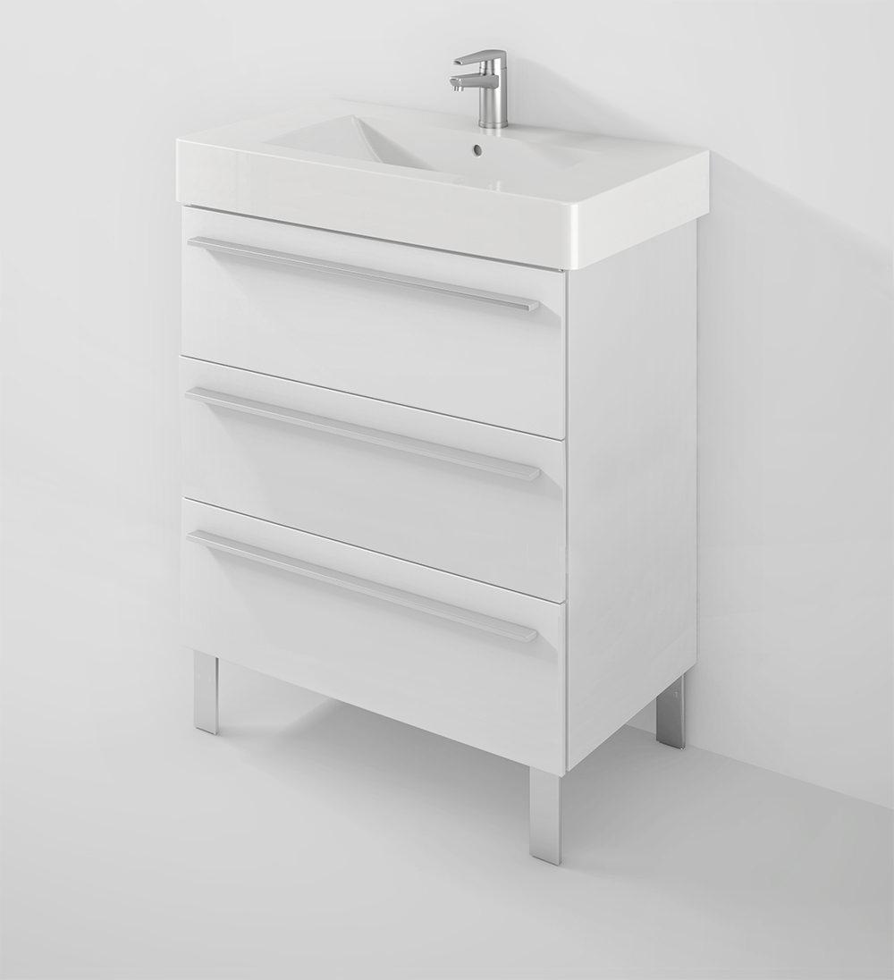 duravit x large 800mm 3 drawer unit with 850mm vero basin xl655301818. Black Bedroom Furniture Sets. Home Design Ideas