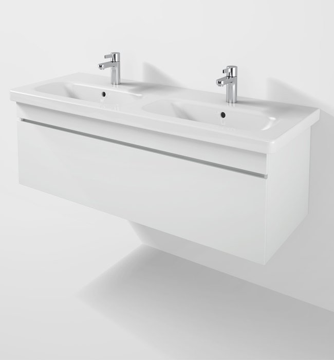 Duravit durastyle 1230mm vanity unit with double basin ds6398