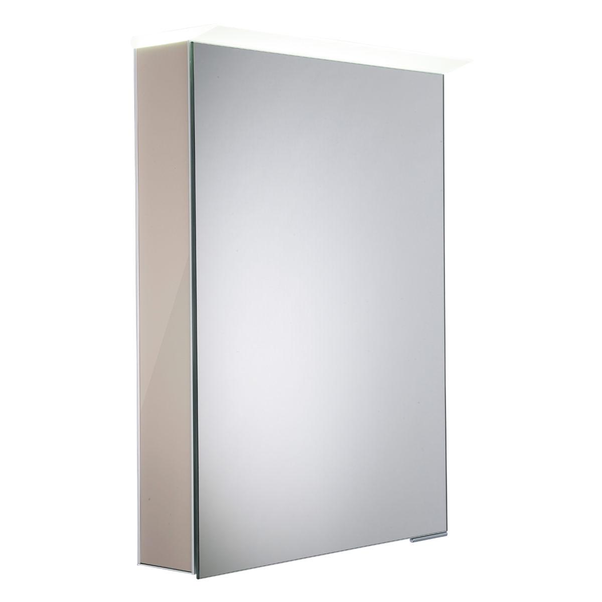 Roper Rhodes Virtue Gloss Warm Grey Led Mirror Cabinet