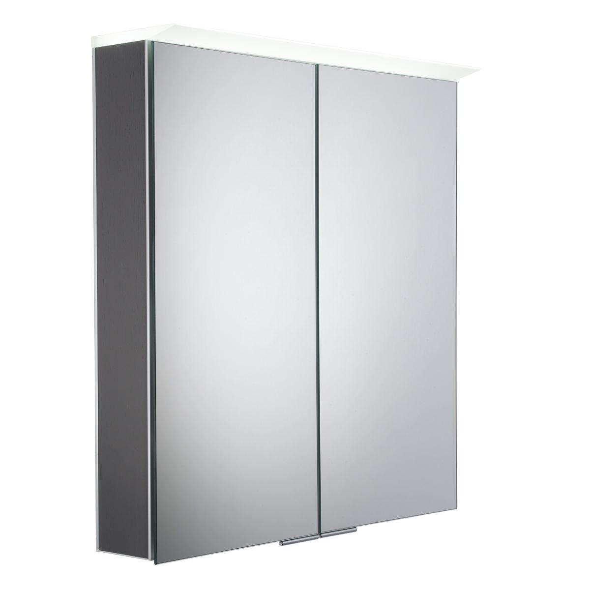 Roper Rhodes Visage Smoked Walnut Led Mirror Cabinet