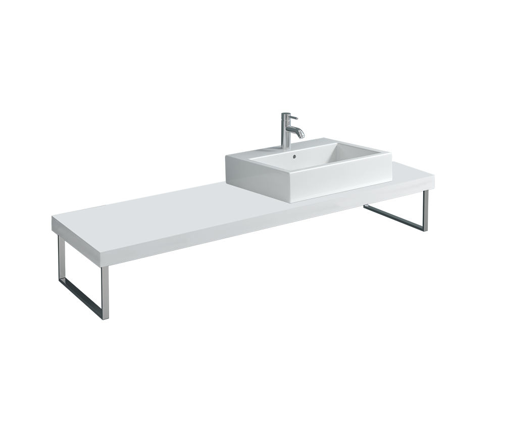 duravit fogo 800 x 550mm white matt console for countertop. Black Bedroom Furniture Sets. Home Design Ideas