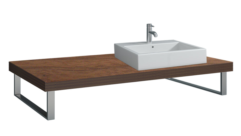 duravit fogo 800 x 550mm american walnut console for. Black Bedroom Furniture Sets. Home Design Ideas