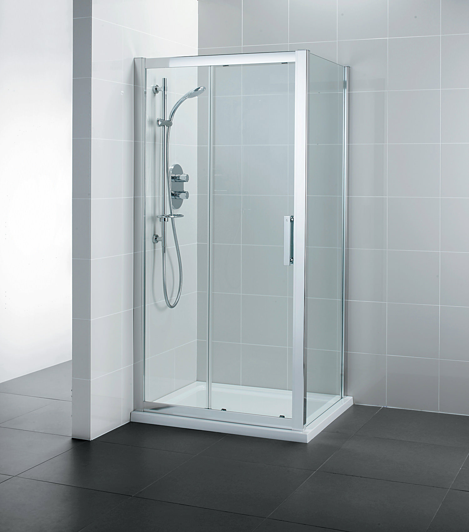 Ideal standard synergy slider shower door 1200mm l6289eo for 1200mm shower door