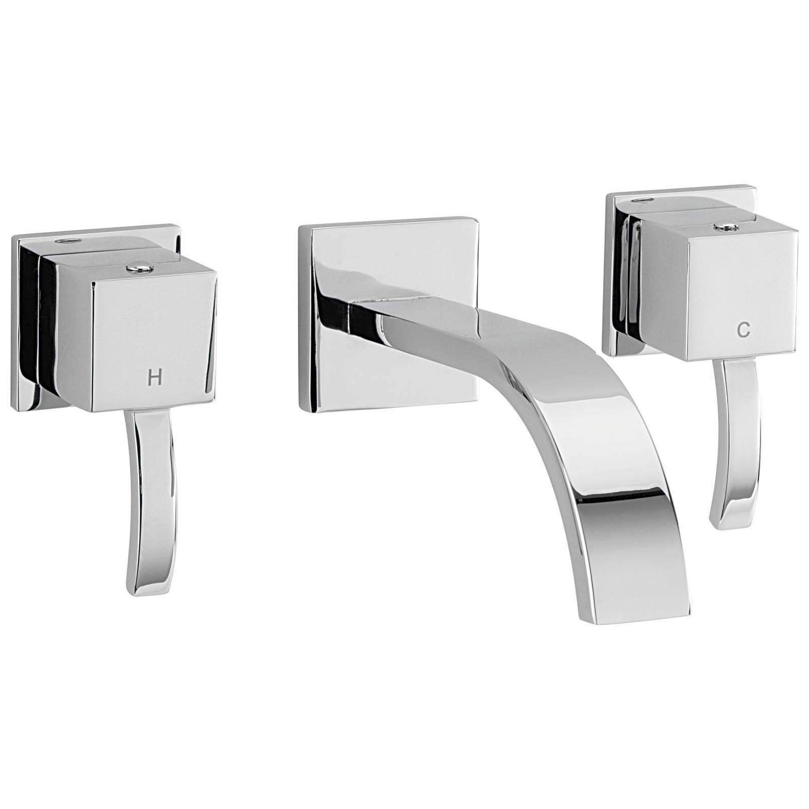 Sagittarius Arke 3 Hole Wall Mounted Basin Mixer Tap AR/207/C