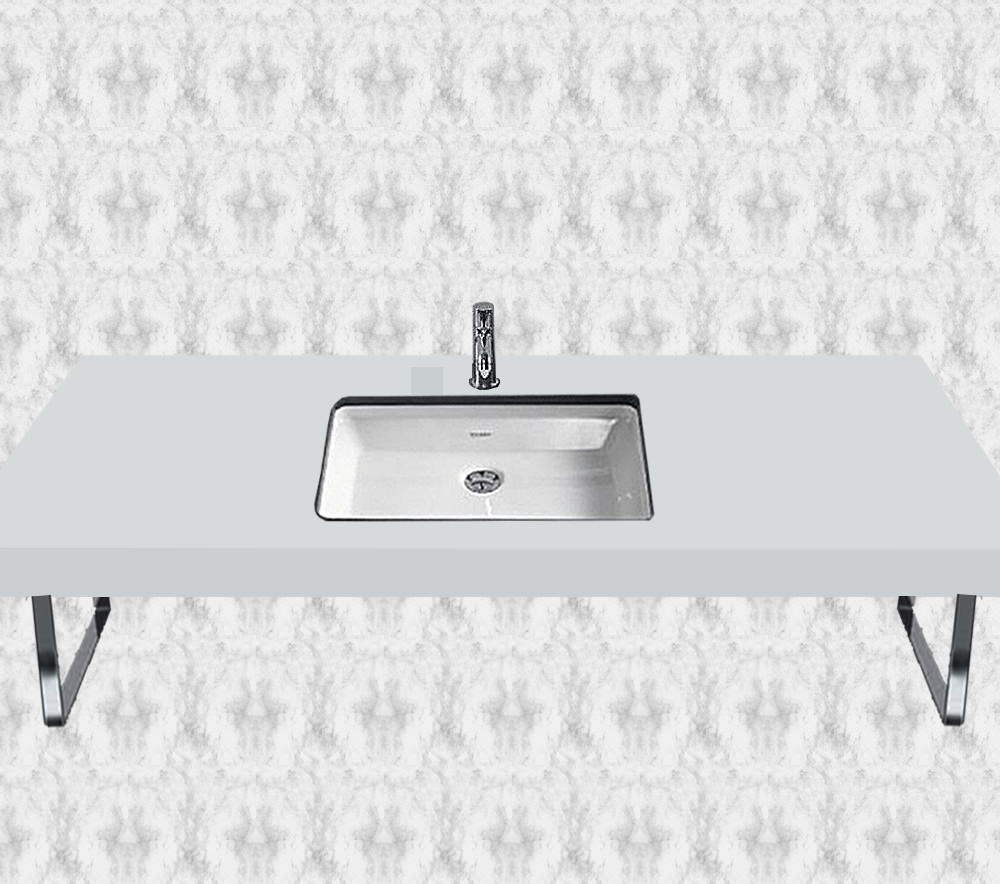 duravit fogo white matt 1 cut out console for inset basins. Black Bedroom Furniture Sets. Home Design Ideas