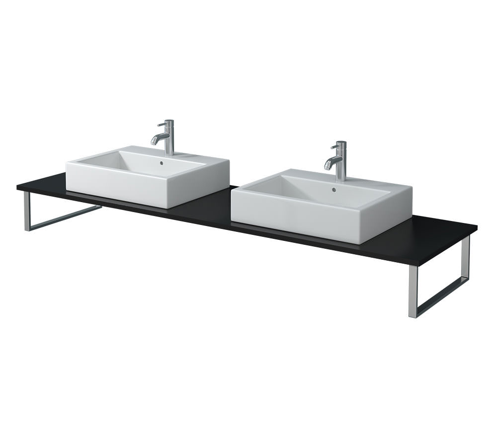 duravit x large 800 x 550mm black high gloss 2 cut out. Black Bedroom Furniture Sets. Home Design Ideas