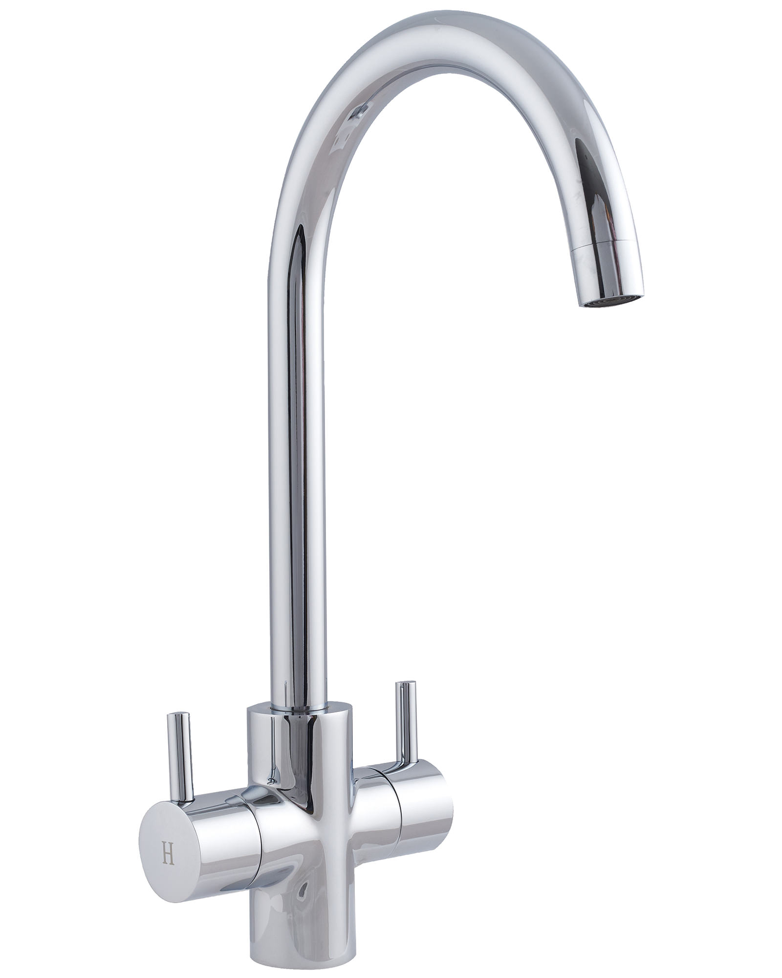 Astracast shannon monobloc twin lever kitchen sink mixer for Bathroom taps