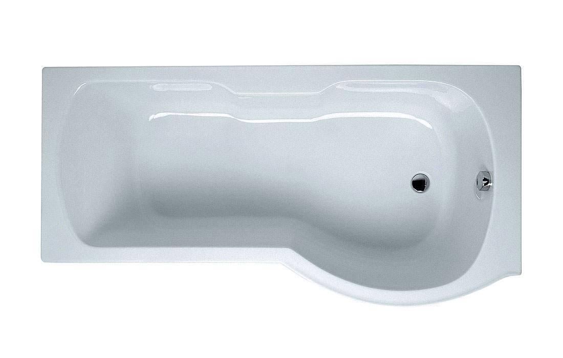 baths shower baths vitra optima right handed bath 1700 x 700 850mm