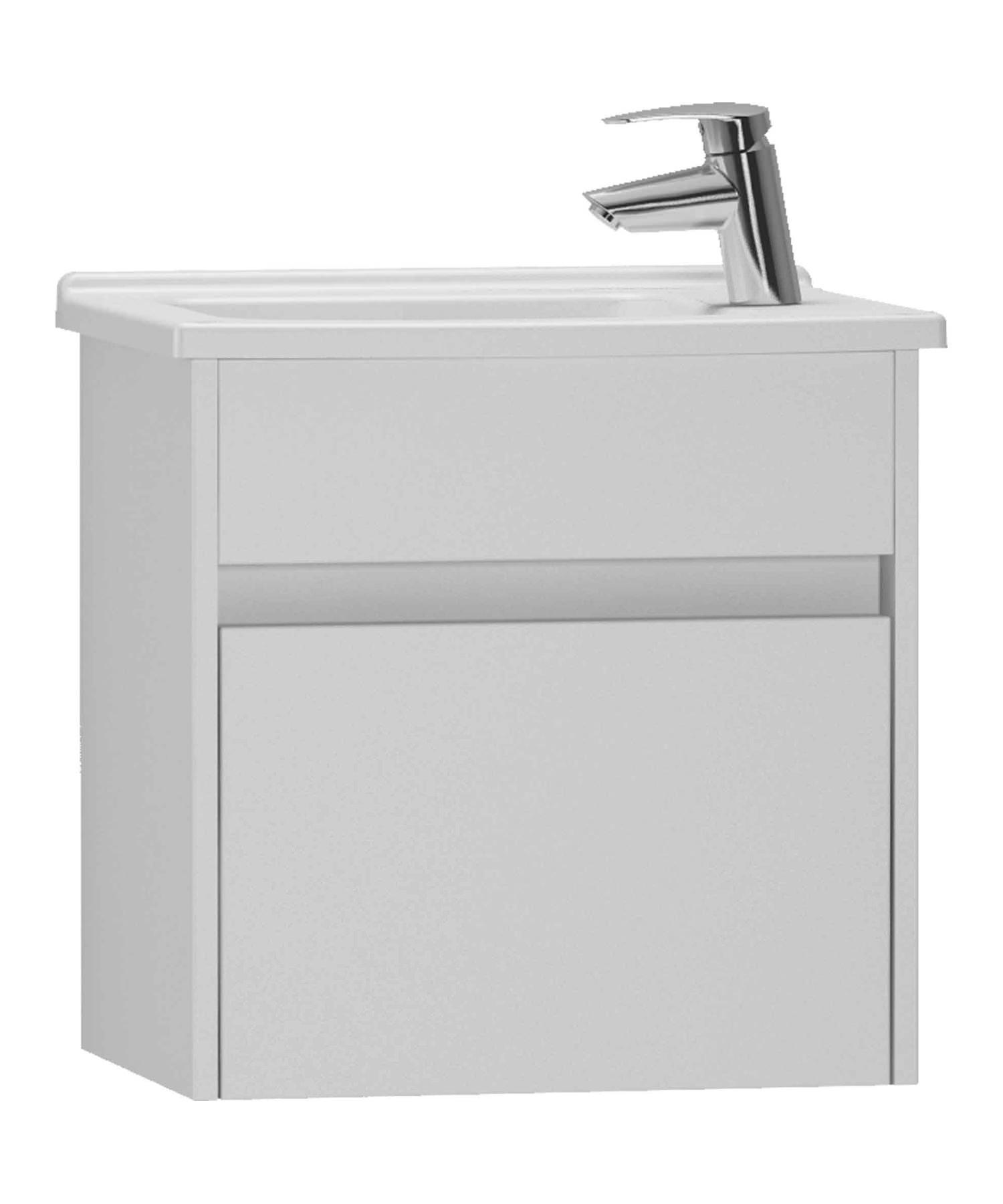 Vitra S50 High Gloss White 500mm Compact Washbasin Unit