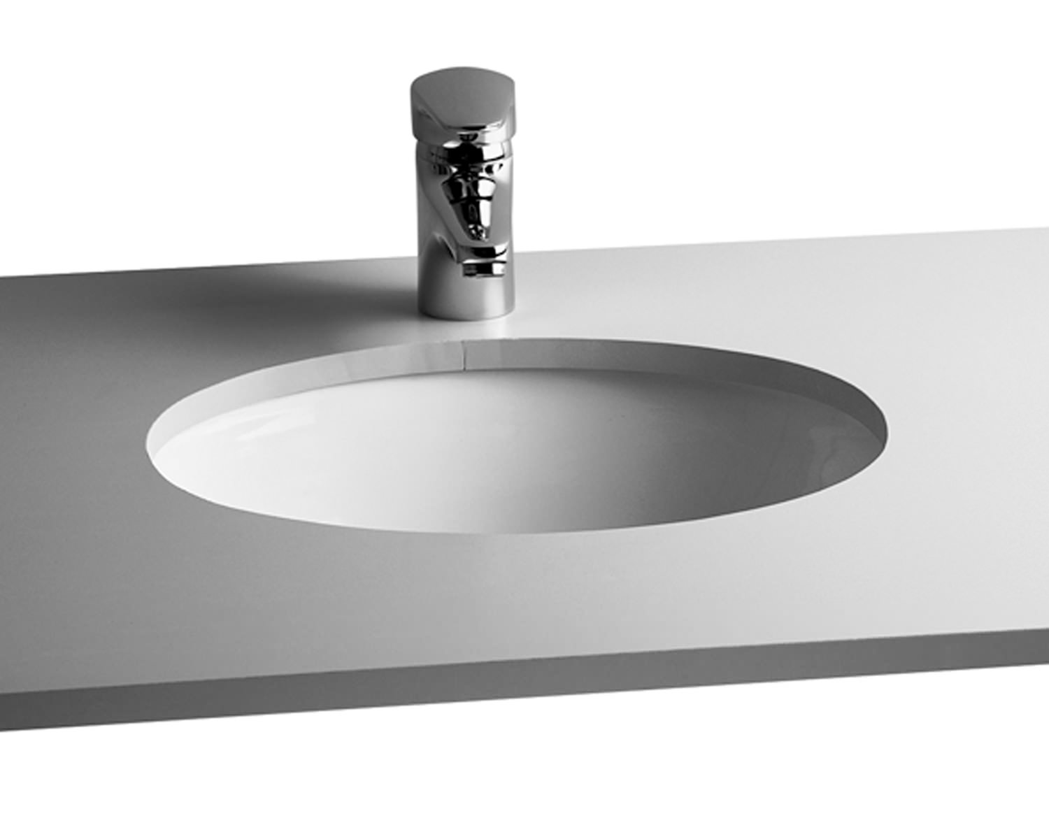 Vitra Commercial Arkitekt 420mm Wide Under Counter Oval