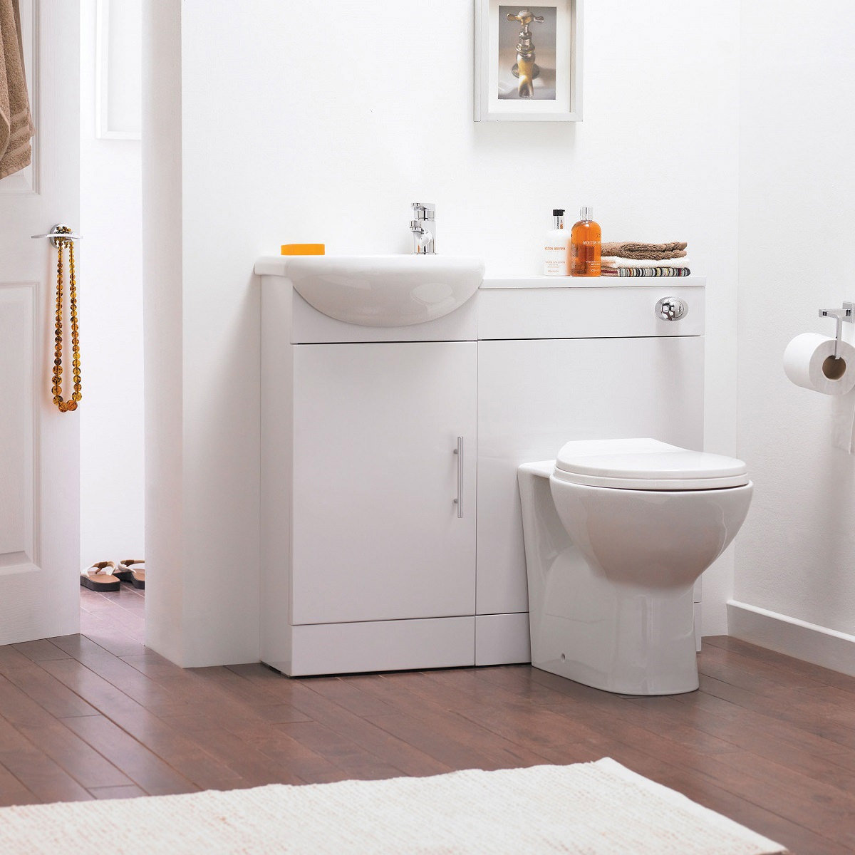 Premier Sienna Cloakroom Gloss White Furniture Pack Sie001