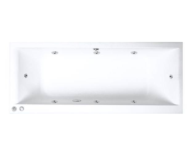 baths whirlpool baths trojan elite 1700 x 700mm whirlpool bath 8 jets