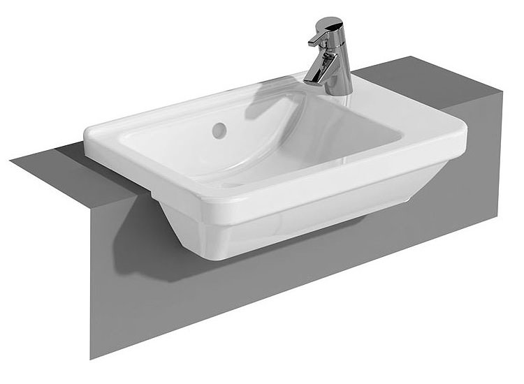 vitra s50 compact semi recessed basin right hand. Black Bedroom Furniture Sets. Home Design Ideas