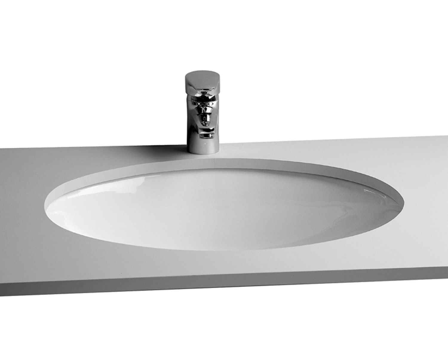 Vitra Commercial Arkitekt 52cm Under Counter Basin Oval
