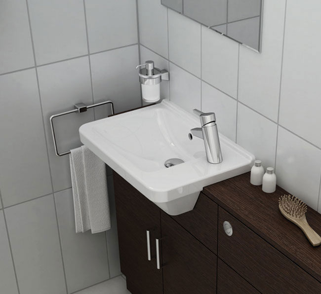 VitrA S50 Compact Semi Recessed Basin Right Hand