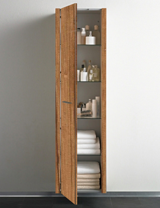 Duravit 2nd floor bleached oak tall cabinet 1800mm with for Bathroom cabinets 1800mm