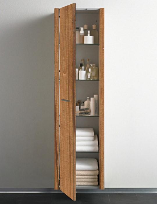 duravit  floor bleached oak tall cabinet mm