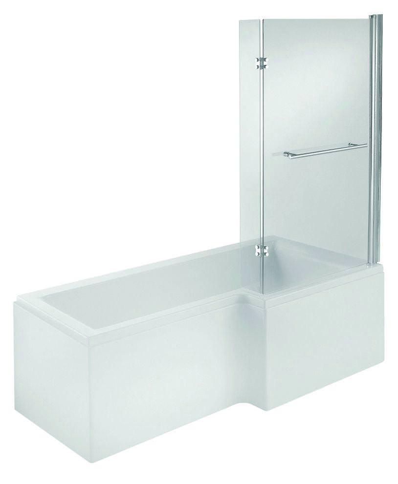 Trojan Elite L Shaped Shower Bath 1675 X 850 700mm White