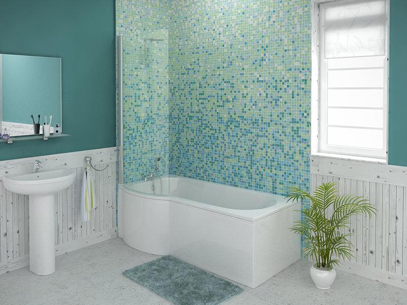 Trojan Concert Shower Bath 1675 X 750mm Including Bath