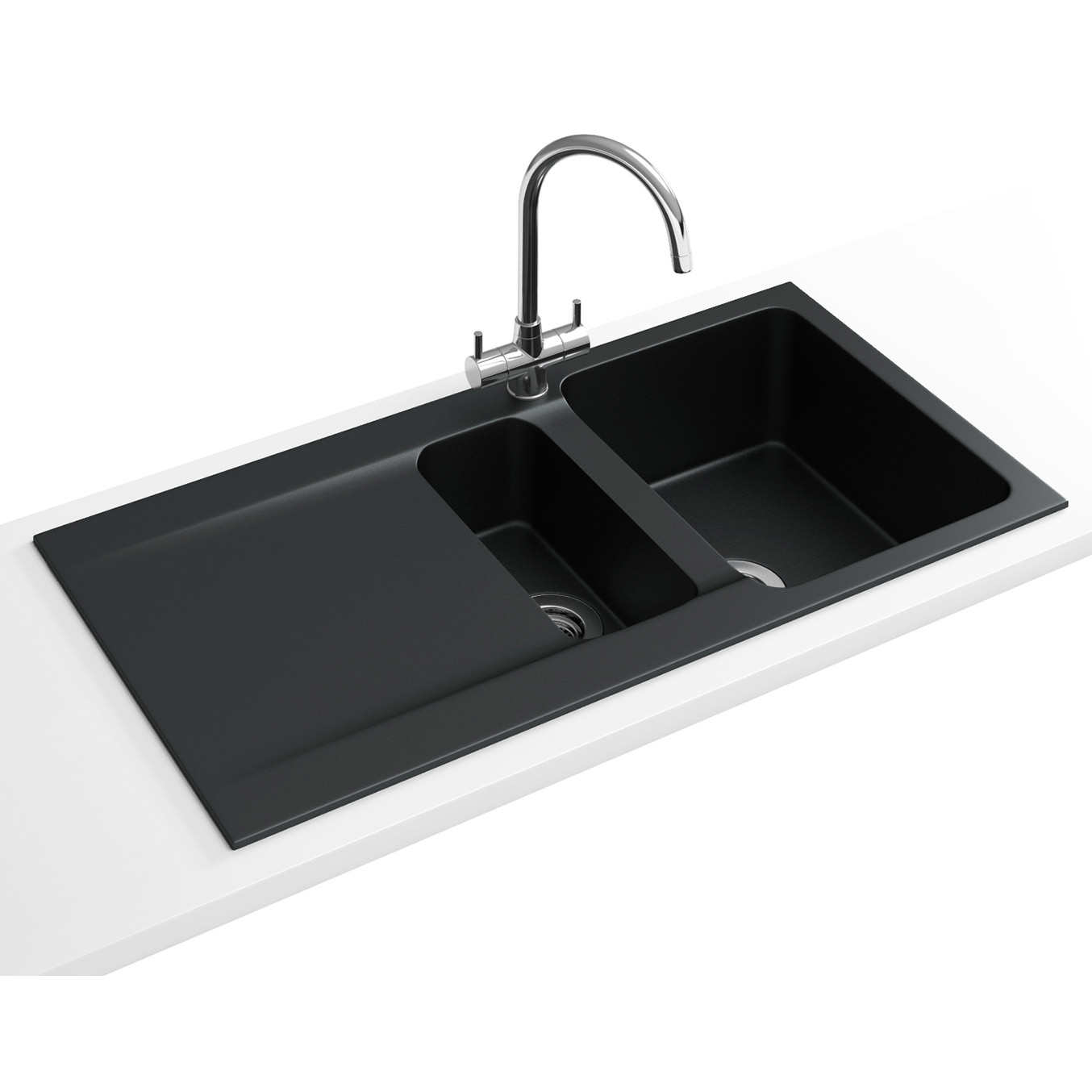 Franke Black Kitchen Sink: Franke Orion OID 651 Tectonite Carbon Black 1.5 Bowl Inset