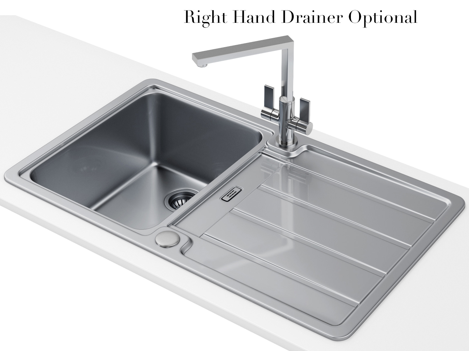 Large Stainless Steel Sinks Uk : ... Hydros Designer Pack HDX 614 1.0 Bowl Stainless Steel Sink And Tap