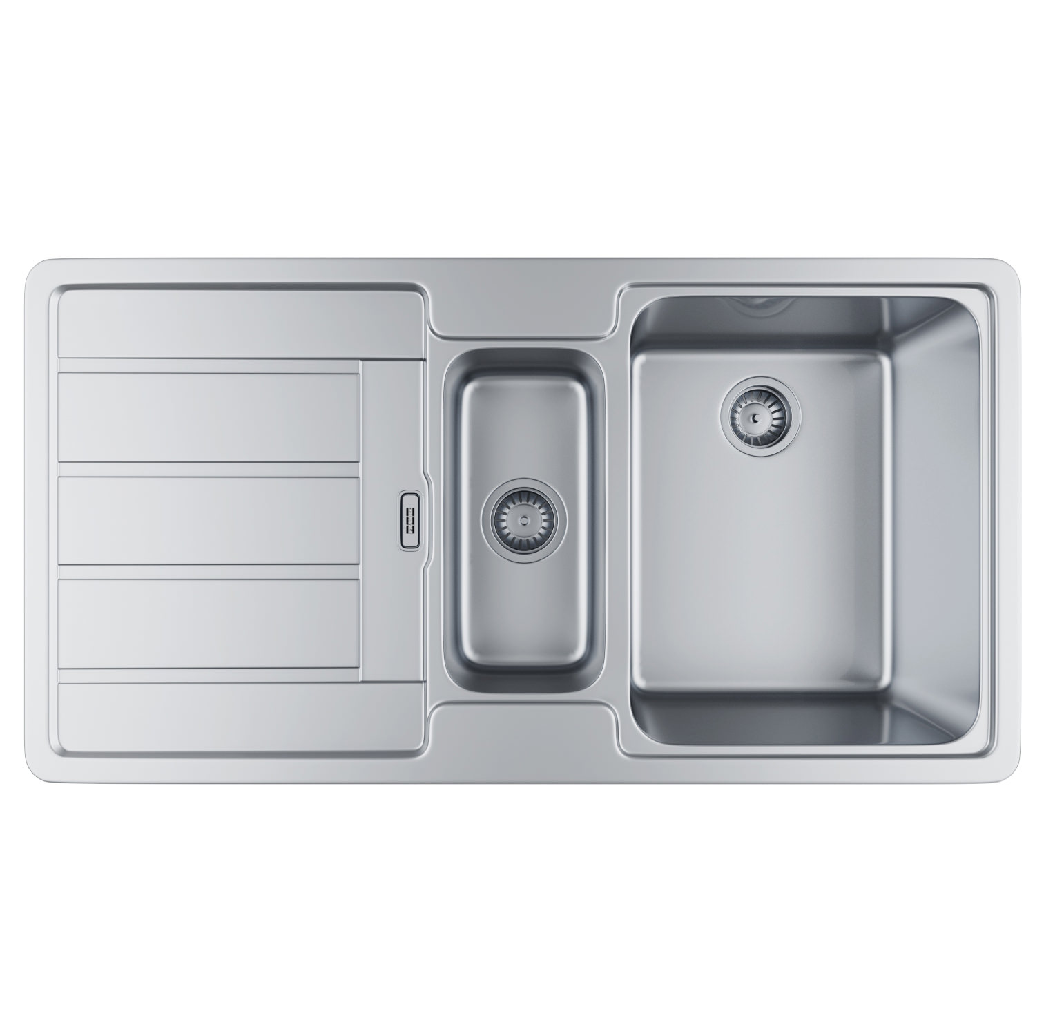 Franke Hydros HDX 654 Stainless Steel 1.5 Bowl Kitchen Inset Sink ...