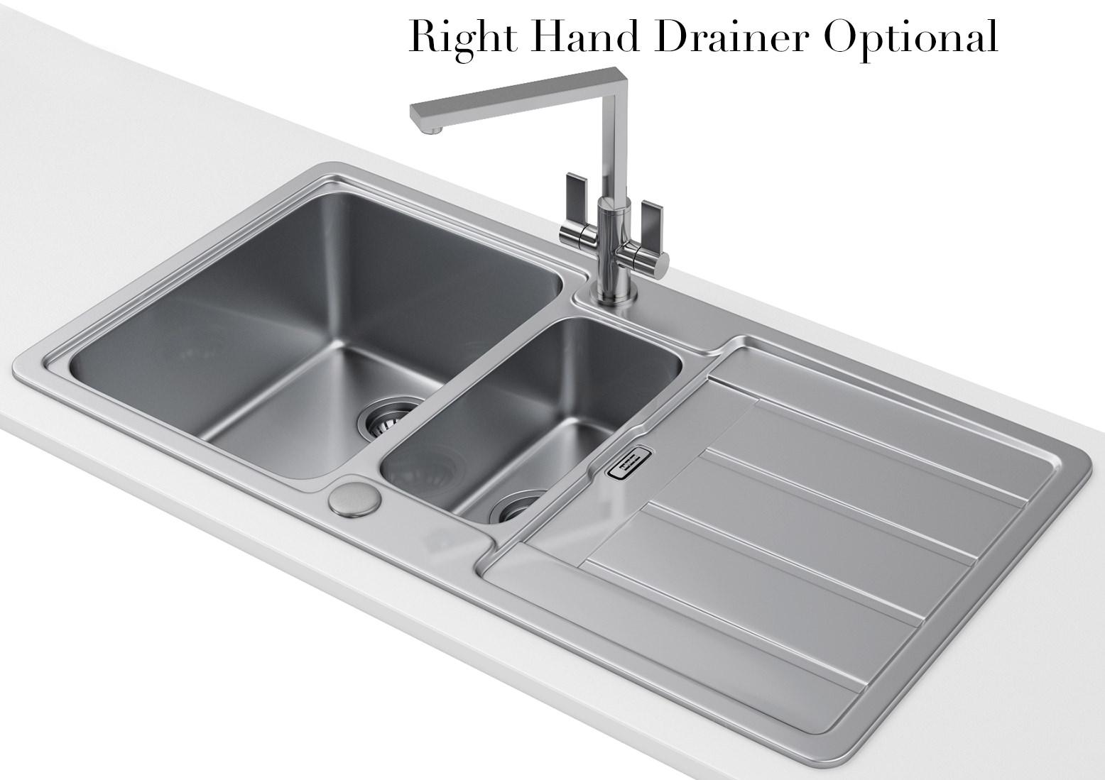 Franke Hydros Hdx 654 Stainless Steel 1 5 Bowl Kitchen