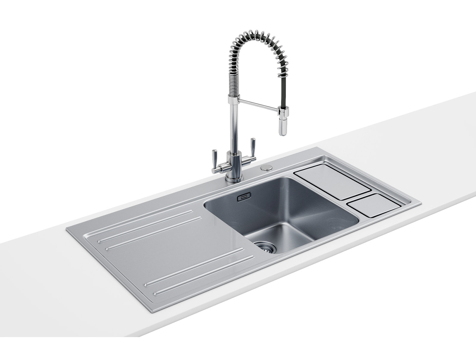 Franke Ss Sinks : Franke Largo Workcentre DP LAX 211-W-36 1.0 B Stainless Steel Sink And ...