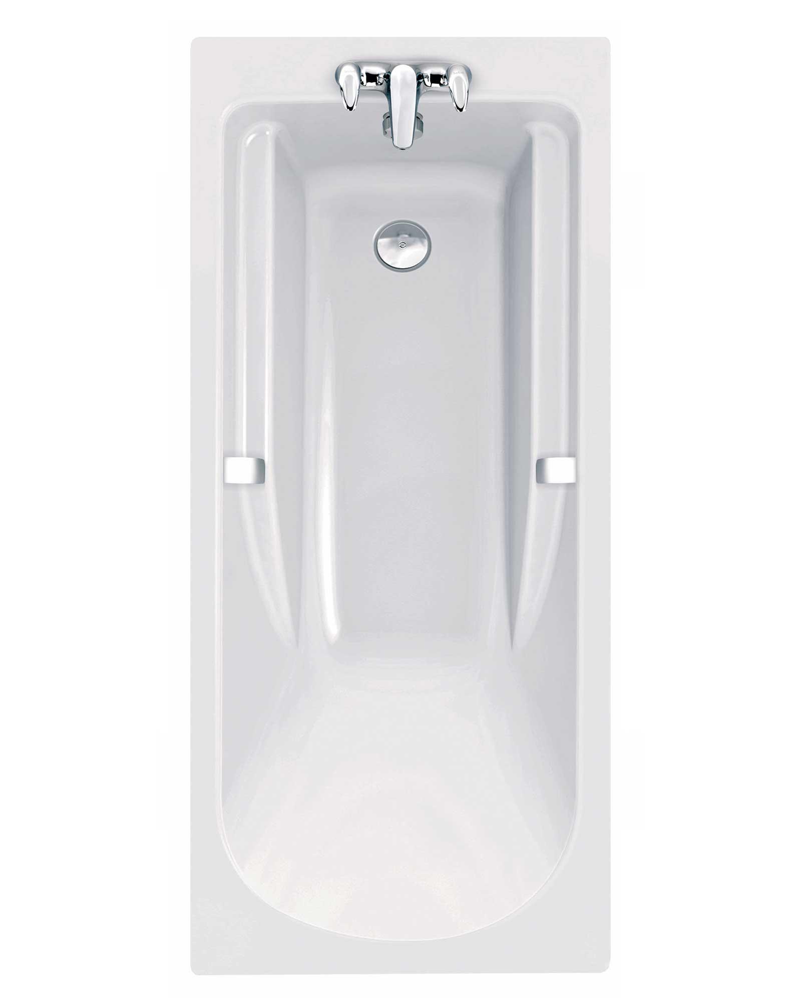 Twyford All 1700 X 750mm 2 Tap Holes Rectangular Bath With